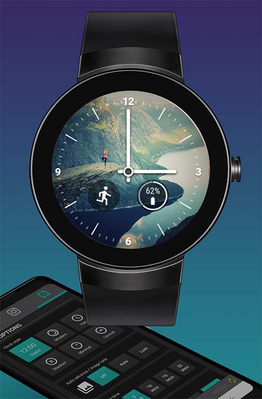 PhotoWear mobile app and watch face